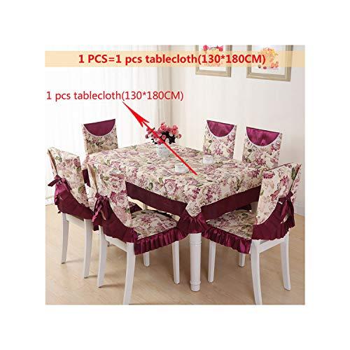 HGblossom Dinning Tischdecke Bowknot binden Verpackung zurück Stuhl-Abdeckung Stuhlkissen Set 110 * 160cm Rechteck Staubdichtes Tischdecke, Fh 1Pcs-130x180cm, Siehe unten Beschreibungen Größe