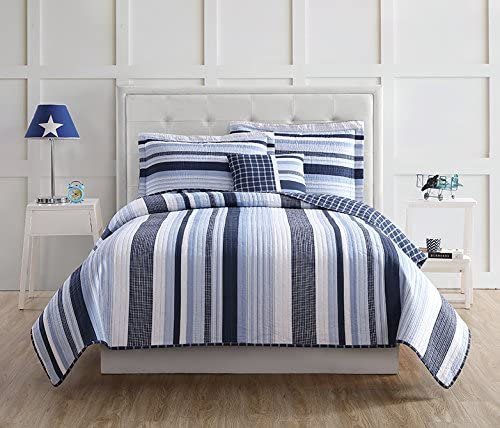 Laura Hart Kids Mason Stripe Twin Quilt Mini Set with Bonus Decorative Pillow product image