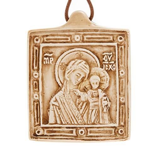 Holyart Medalla de Piedra de la Virgen con el Niño Belén