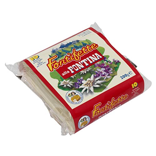 Italian Fontina Cheese Sottilette DOP  10 Slices