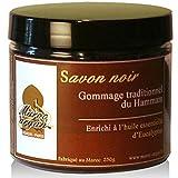 Peeling traditionelle schwarze Seife mit Eukalyptus 250g - 100% natürliches aus Marokko