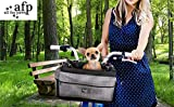 ALL FOR PAWS Delux 2 in 1 Bicycle Basket Carrier Bag with Reflective Stripe for Small Dogs,Cats,Rabbit, upto 10Lbs