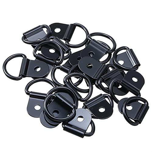 EKRPN 40 unids de Acero Inoxidable de Acero Inoxidable Ancla D Forma de cargamento Anexo anexo de Anexo de Fijaciones para Camiones de Remolque (Color : Black)
