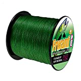 Frwanf Braided Fishing Line 8 Strands Super Strong PE Fishing String ExtremePower Fishing Braid Line for Saltwater and Fresh Water 200LB Test 1000M/1093Yards Moss Green