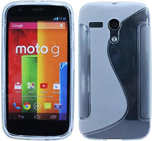ENERGMiX S-Line TPU SchutzHülle kompatibel mit Motorola Moto G (1.Gen) Silikon Hülle in Transparent