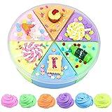 Fluffy Cloud Slime, BESTZY Arcilla Seca al Aire, Fluffy Slime Kit, 6 Colores Fluffy Floam Slime Mixto Elástico y Suave Arcilla Juguete No Tóxico para Niños y Adultos