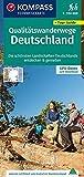 KOMPASS Fernwegekarte Qualitätswanderwege Deutschland: Die schönsten Landschaften Deutschlands entdecken & genießen. GPX-Daten zum Download. (KOMPASS-Wander-Tourenkarten, Band 2561)