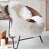 KAIHONG Piel de Imitación,Cozy sensación como Real, excelente Piel sintética de Calidad Alfombra de Lana - (Blanco, 50x80cm)