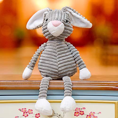 Plüschtiere Hässliche Puppen Retro Streifen Weiche Puppe Bär Tier Fuchs Puppe Mädchen Herz Geschenk 40Cm Gestreiftes Graues Kaninchen