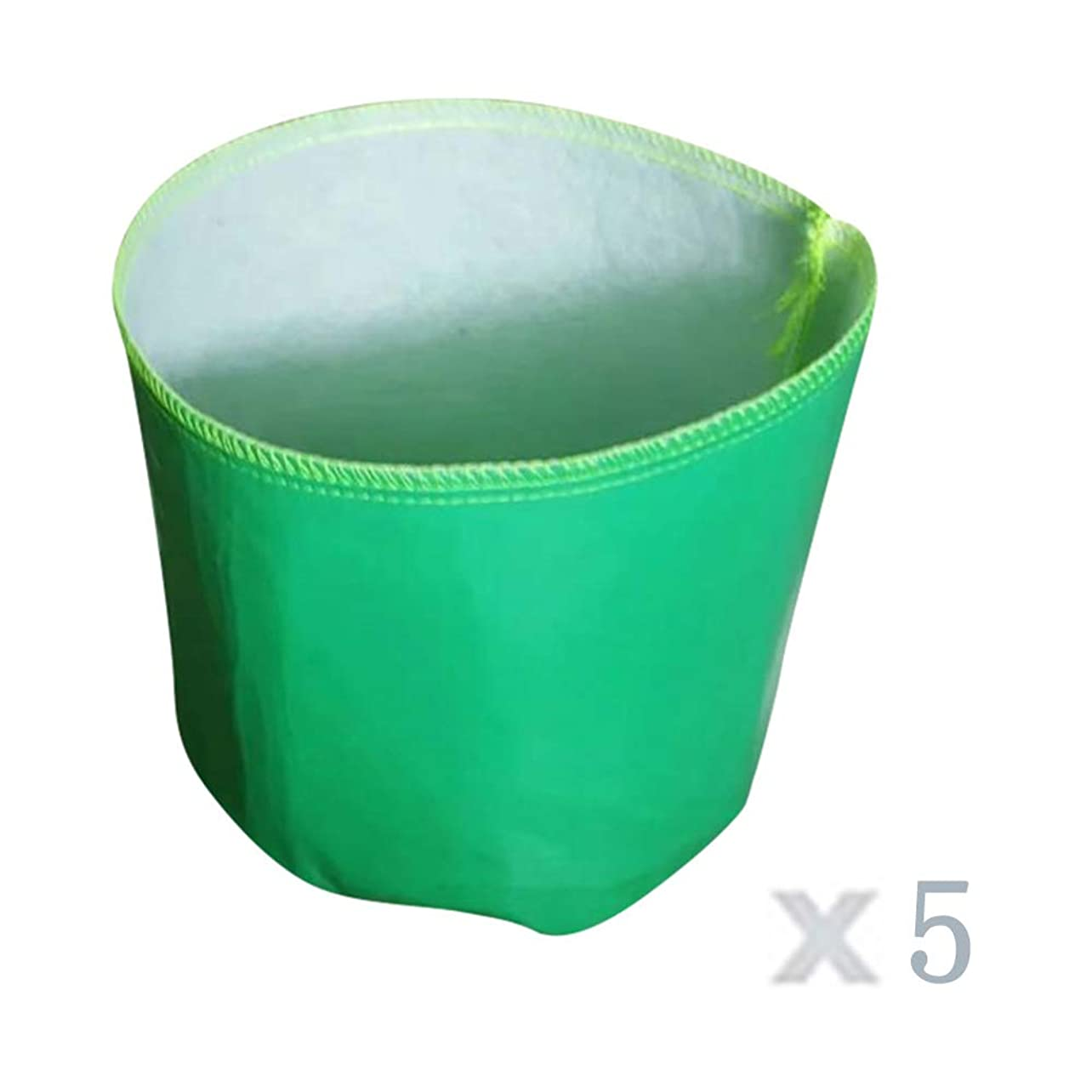 下にペストリーテント成長バッグ ファブリック流域, 5個 不織布 植え付けバッグ 布製容器 ホームガーデニング、バルコニーガーデンに適しています,50*40cm