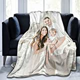 Custom Blanket with Photo Text Personalized Throw Blankets Customized Flannel Fleece Blankets for Family Birthday Wedding Gift Fits Couch Sofa Bedroom Living Room-40'x50'