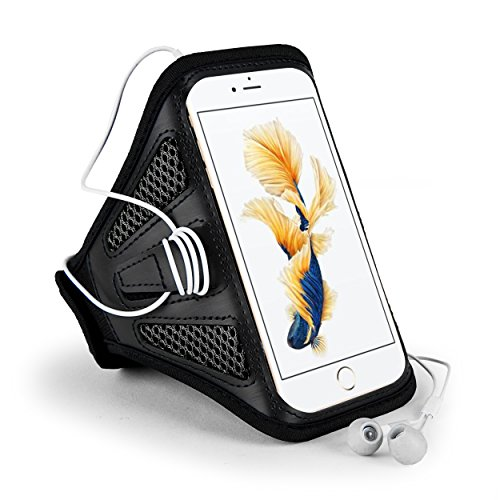 Schwarz Mesh outdoor Running Gym Sport Armband Fall für iPhone 7 Plus/Samsung Galaxy S7 Edge/J7 J5/Motorola Moto G4/Moto Z Play/wileyfox Spark X/Huawei Nexus 6P
