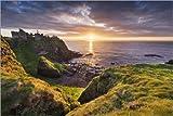 Poster 100 x 70 cm: Sonnenuntergang in Irland von Sven
