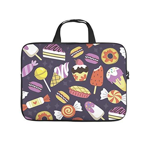 Bolsa para portátil con diseño de pastel, chocolate, donut toffee, resistente al desgaste, maletín para portátil a medida para universidad, trabajo y negocios