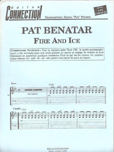 FIRE AND ICE - Guit Tab & Sol & Paroles (GUITAR CONNECTION) Transcription D Pochon (feuillet)