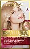 L'oreal - 3x l 'oreal excellence creme 9.1rubio chiarissimo colorazione tinte cabello