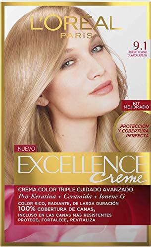 3 X L'OREAL EXCELLENCE CREME 9.1 BIONDO CHIARISSIMO Colorazione Tintura Capelli