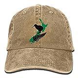 Nouvelle-Zélande Maori Fern 1 Denim Hat réglable Drapeau Unisexe Casquettes de Base-Ball