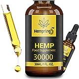 Prämie Öl Tropfen - 90 PROZENT, Natürliches Öl, Vegan   Hohe Festigkeit, Große 30 ML Flasche Hochdosiert, Omega 3,6,9 (30000)