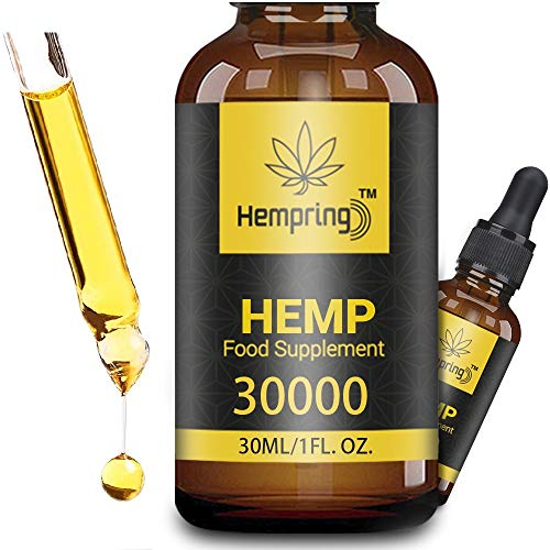 Prämie Öl Tropfen - 90 PROZENT, Natürliches Öl, Vegan | Hohe Festigkeit, Große 30 ML Flasche Hochdosiert, Omega 3,6,9 (30000)