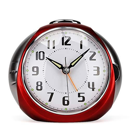 Luz nocturna analógica Reloj despertador silencios Reloj de alarma silencioso, 12 acordes, música, sonido de cabecera, reloj de alarma electrónico luminoso Reloj ruidoso fácil de configurar para niños