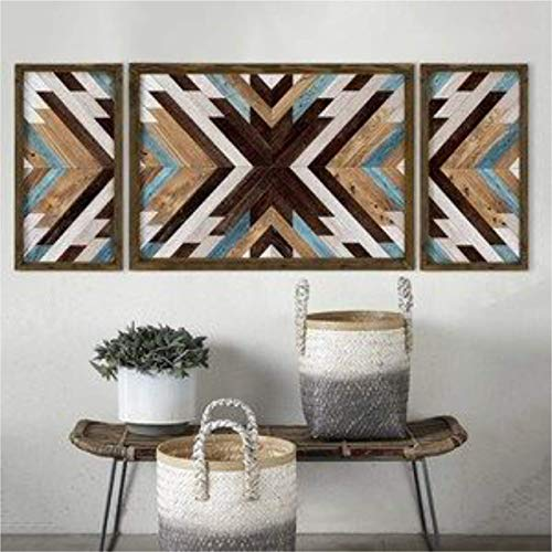 Cuadro salón decorativo madera. TRIPTICO. Cuadro decoración, salón