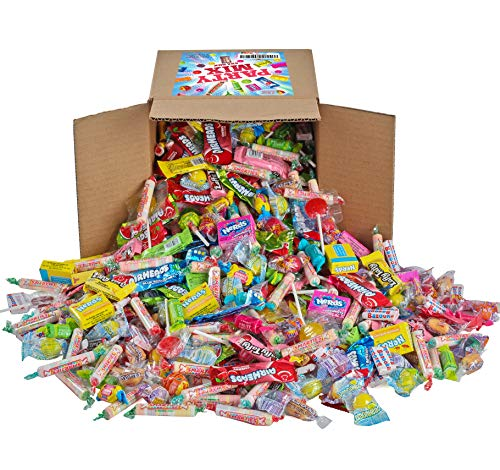 Holiday Candy - Assorted Candy Party Mix, Appx. 8 LB Bulk - OVER 450 Pieces - Fire Balls, Airheads,...