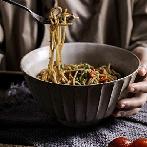 QTQHOME Bol en céramique Accueil Creative Grand Bol Vieille Soupe Nouilles Salade de Fruits Plateau de Service Grand Rond Art en céramique (Taille:5 Pouces)