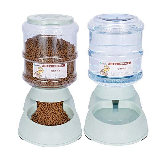 Geggur Distributori Automatici di Cibo Aqua per Gatti e Cani Pet Feeder Automatico 3.75L, Prodotti per Animali Domestici