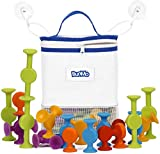 BunMo Bath Toys with Suction Bathtub Toy Organizer - 24 Pack Brilliant Stem Learning Educational Toys for 3 Year olds and Above