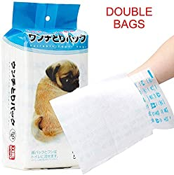 DLDER Dog Poop Bags, No Embarrassed to Pick up, Water-Soluble Tissue Combine with Recyclable Dog Waste Bag, Eco Friendly 9 x 12 Inches