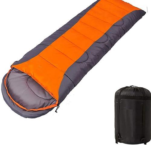 FGKING Enveloppe Camping Sac de Couchage, léger, Confortable, imperméable à l'eau idéal pour 4 Saison, Voyage, randonnée pédestre, Sac de Couchage sac à dosing (Adultes et Enfants)