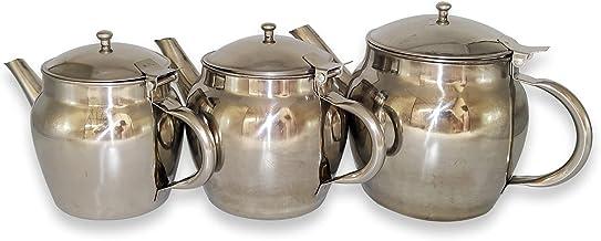طقم شاي عربي من الستانلس ستيل من فلاجي - 03 قطع