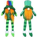 2 Pieces St.Patrick's Day Gnome Plush Doll, Leprechaun Rainbow Tomte Plush Handmade Doll,Shamrock Plush Elf Toy, Scandinavian Style Plush Elf Toy for Home Decorations St.Patrick's Day