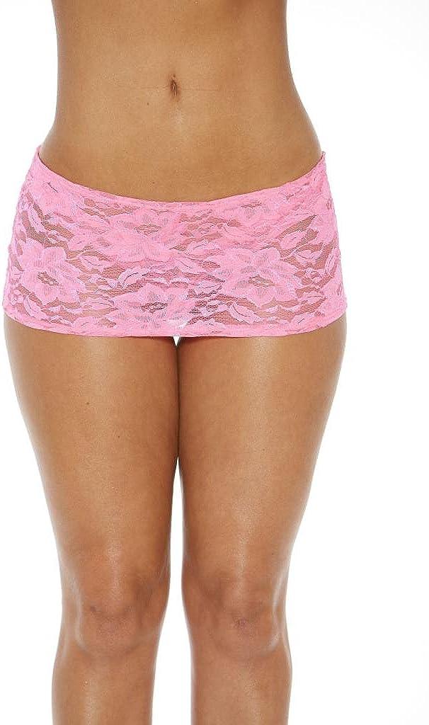 Bodyshotz Women's Sheer Floral Lace Skirt