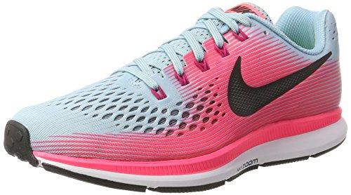 Nike Wmns Air Zoom Pegasus 34, Zapatillas de Running para Mujer, Multicolor (Mica Blue/White/Racer Pink/Sport Fuchsia 406), 41 EU