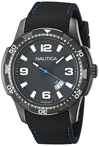 Nautica Orologio Analogico Quarz Uomo con Cinturino in Silicone NAI13511G