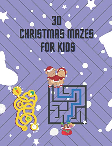 3D Christmas mazes for kids: 30 Fun 3D Christmas Mazes for Kids | Book of Mazes, Games, Puzzles