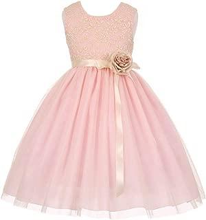 pink sash flower girl dress