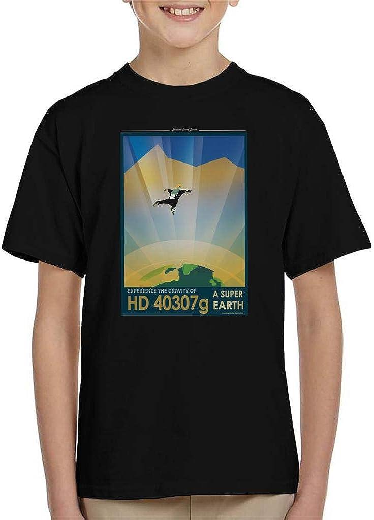 NASA HD 40307g A Super Earth Interplanetary Travel Poster Kid's T-Shirt