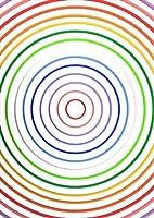 igsticker ポスター ウォールステッカー シール式ステッカー 飾り 1030×1456㎜ B0 写真 フォト 壁 インテリア おしゃれ 剥がせる wall sticker poster 008694 クール カラフル 虹 丸