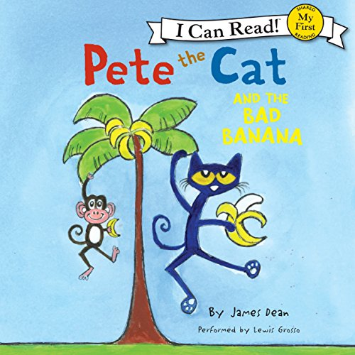 Pete the Cat and the Bad Banana audiobook cover art