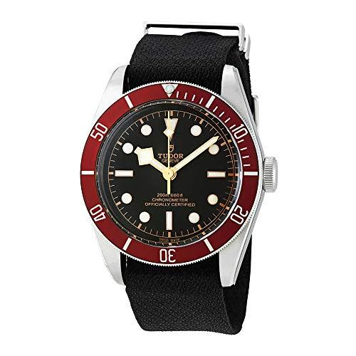 Tudor Heritage M79230R-0010 - Reloj de Pulsera para Hombre (Acero y Tela), Color Negro