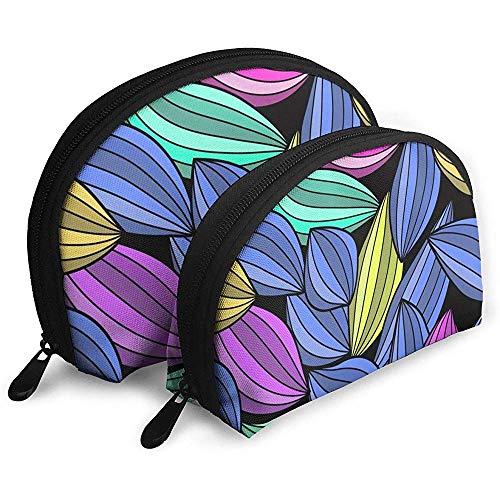 Textur Zeichnung Blatt Bleistift tragbare Taschen Make-up Tasche kulturbeutel, multifunktions tragbare reisetaschen kleine Make-up Kupplung Tasche mit reißverschluss