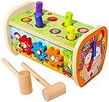 Arkmiido Juguete de Madera con 2 martillos y Equipo, la Tortuga y la Gopher en Forma de Liebre Martillo de Juguete Juguete Educativo Preescolar para niños niñas 1 2 3 4 5 6 años