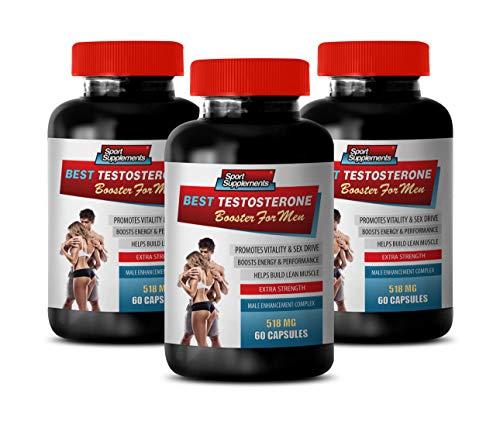 Pills for Men Stay Hard - Best Testosterone Booster for Men - Male Enhancement Complex - tongkat ali Complex - 3 Bottles 180 Capsules