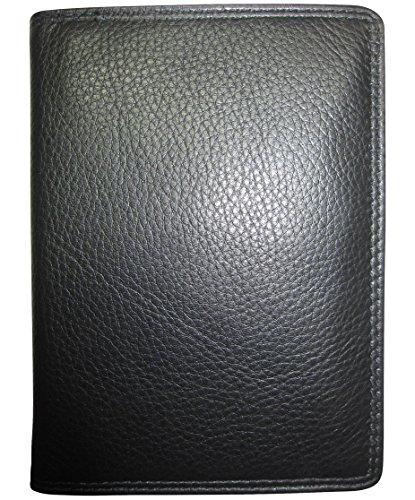 Josephine Osthoff Handtaschen-Manufaktur Leder Etui für Ihren Reisepass Passport - Schwarz - Doppelnaht, Plus gratis Folienbüchlein, auch Behindertenausweis 945/10