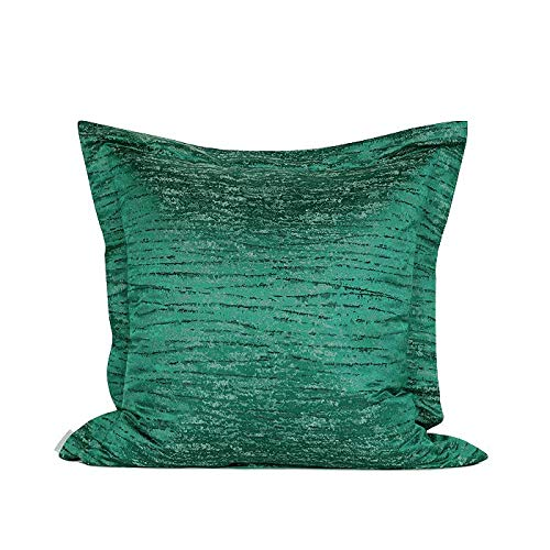 Cushion Covers Throw Pillow Cover Modern Minimalist Striped Texture Jacquard Sofa Bedroom Living Room Decoration Pillowcase Large Size Square Dark Green 55cm x 55cm (Without Core)