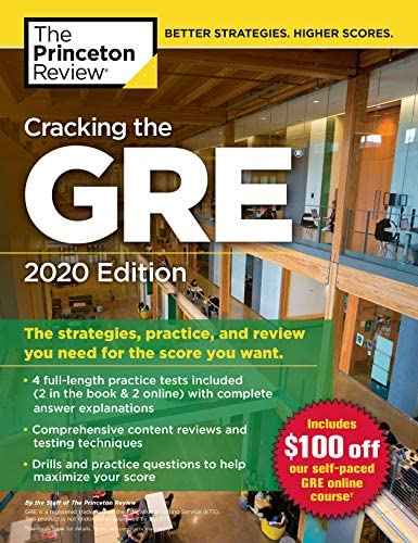 Cracking the GRE with 4 Practice Tests 2020 Edition The Strategies Practice and Review You Need product image