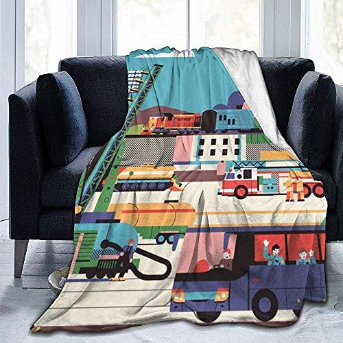 Searster$ Throw Blanket Stadion BAU Spielen Stadt Buildin Fleece Decke Flanell Plüsch Decke Fuzzy weiche Decke Mikrofaser für Couch Schlafsofa, 102 X 127 cm